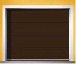 Sekční zateplená vrata TRIDO SET TREND s motorem - zlatý dub